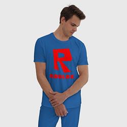 Пижама хлопковая мужская ROBLOX цвета синий — фото 2