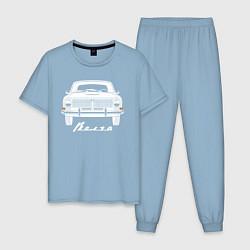 Пижама хлопковая мужская Волга-24 цвета мягкое небо — фото 1