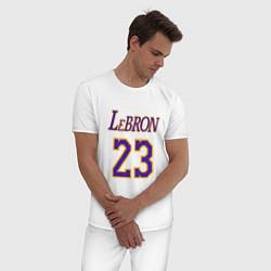 Пижама хлопковая мужская LeBron 23 цвета белый — фото 2