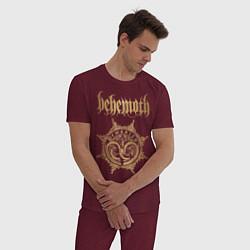 Пижама хлопковая мужская Behemoth: Demonica цвета меланж-бордовый — фото 2