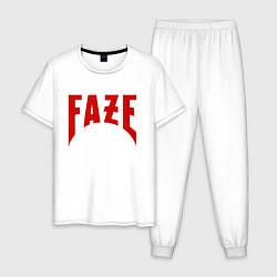 Пижама хлопковая мужская FAZE цвета белый — фото 1