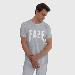 Пижама хлопковая мужская FAZE цвета меланж — фото 2