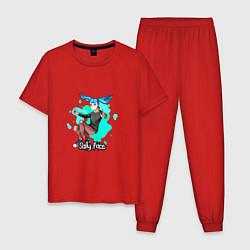 Пижама хлопковая мужская Sally Face цвета красный — фото 1