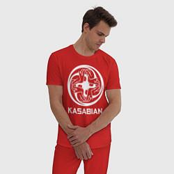 Пижама хлопковая мужская Kasabian: Symbol цвета красный — фото 2