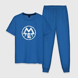 Пижама хлопковая мужская Metro: Sparta Warriors цвета синий — фото 1