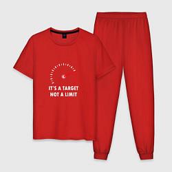 Пижама хлопковая мужская It's a target, not a limit цвета красный — фото 1