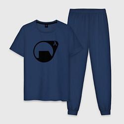 Пижама хлопковая мужская HL: Black Mesa цвета тёмно-синий — фото 1