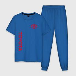 Пижама хлопковая мужская TOYOTA цвета синий — фото 1