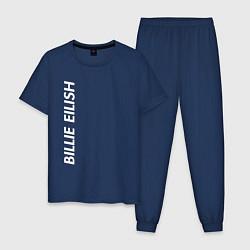 Пижама хлопковая мужская Billie Eilish цвета тёмно-синий — фото 1