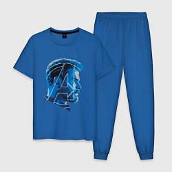 Пижама хлопковая мужская Thor: Avengers цвета синий — фото 1