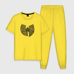 Пижама хлопковая мужская WU TANG CLAN цвета желтый — фото 1