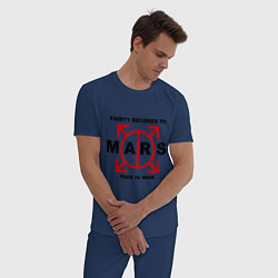 Пижама хлопковая мужская 30 STM: This is war цвета тёмно-синий — фото 2