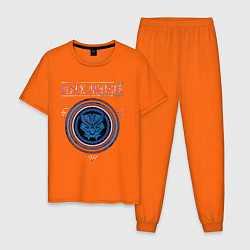 Пижама хлопковая мужская Черная пантера цвета оранжевый — фото 1