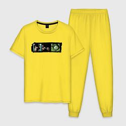 Пижама хлопковая мужская Ярость Халка цвета желтый — фото 1