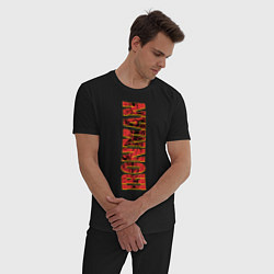 Пижама хлопковая мужская IRON MAN цвета черный — фото 2