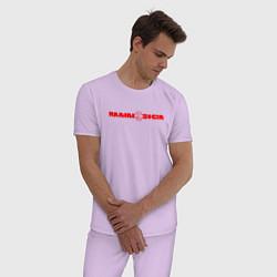 Пижама хлопковая мужская Rammstein цвета лаванда — фото 2
