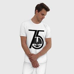 Пижама хлопковая мужская The Hunger Games 75 цвета белый — фото 2