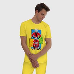 Пижама хлопковая мужская Человек-муравей комикс цвета желтый — фото 2