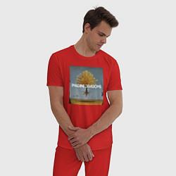 Пижама хлопковая мужская IMAGINE DRAGONS цвета красный — фото 2