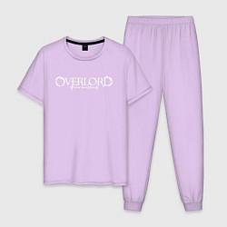 Пижама хлопковая мужская OVERLORD НА СПИНЕ цвета лаванда — фото 1