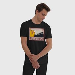 Пижама хлопковая мужская Adventure time цвета черный — фото 2