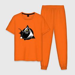 Пижама хлопковая мужская Batman цвета оранжевый — фото 1
