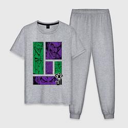 Пижама хлопковая мужская Joker Emotions цвета меланж — фото 1