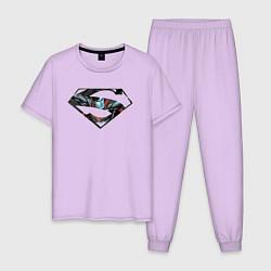Пижама хлопковая мужская Superman цвета лаванда — фото 1