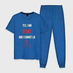 Пижама хлопковая мужская ATEEZ цвета синий — фото 1