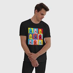 Пижама хлопковая мужская Граф Лимонхват pop-art цвета черный — фото 2