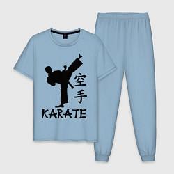 Пижама хлопковая мужская Karate craftsmanship цвета мягкое небо — фото 1
