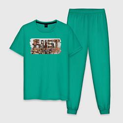 Пижама хлопковая мужская Rust цвета зеленый — фото 1