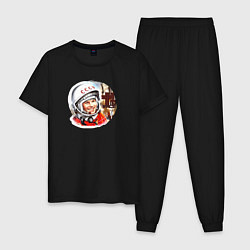 Пижама хлопковая мужская Гагарин ?? 1 цвета черный — фото 1