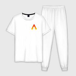 Пижама хлопковая мужская APEX LEGENDS НА СПИНЕ цвета белый — фото 1