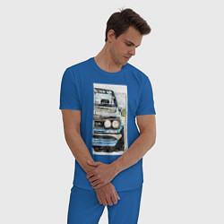 Пижама хлопковая мужская HAKOSUKA GT-R цвета синий — фото 2