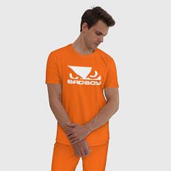 Пижама хлопковая мужская BADBOY цвета оранжевый — фото 2