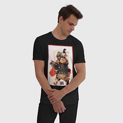 Пижама хлопковая мужская Apex Legends Bloodhound цвета черный — фото 2