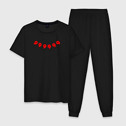 Пижама хлопковая мужская НАРУТО 6 ПУТЕЙ НА СПИНЕ цвета черный — фото 1