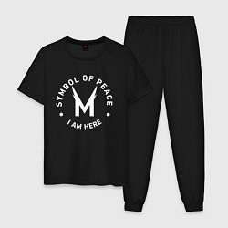 Пижама хлопковая мужская MHA ALL MIGHT цвета черный — фото 1