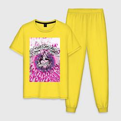 Пижама хлопковая мужская Three Days Grace art цвета желтый — фото 1