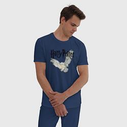 Мужская хлопковая пижама с принтом Гарри Поттер: Букля, цвет: тёмно-синий, артикул: 10206767305937 — фото 2
