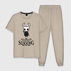 Пижама хлопковая мужская Hollow Knight цвета миндальный — фото 1
