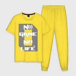 Пижама хлопковая мужская No Game No Life Zero цвета желтый — фото 1