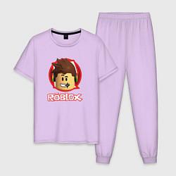 Пижама хлопковая мужская ROBLOX цвета лаванда — фото 1