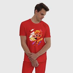 Пижама хлопковая мужская НАРУТО цвета красный — фото 2