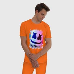 Пижама хлопковая мужская MARSHMELLO цвета оранжевый — фото 2