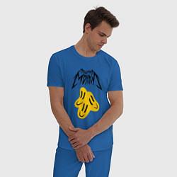 Пижама хлопковая мужская ПОШЛАЯ МОЛЛИ цвета синий — фото 2