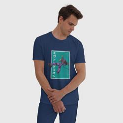 Пижама хлопковая мужская Евангелион цвета тёмно-синий — фото 2