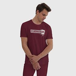 Пижама хлопковая мужская Brazzers цвета меланж-бордовый — фото 2