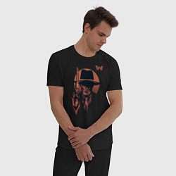 Пижама хлопковая мужская Man in Black цвета черный — фото 2